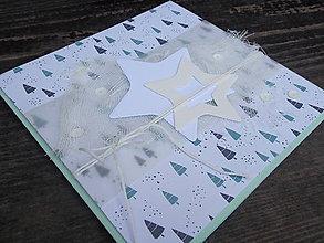Papiernictvo - ...pohľadnica vianočná s hviezdičkami... - 9958985_