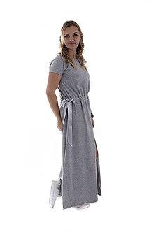 Šaty - Maxi šaty s mašľou - 9960836_