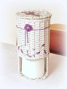 Košíky - Košíky - levanduľa  (vnútorný priemer 15 cm na 3 ks toaletný pap.  - Fialová) - 9959029_