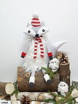 Dekorácie - Líštička kmotrička - v zimnom šate červená - 9961908_