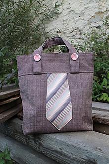 Iné tašky - hnedá kravatenka 2 - 9959997_