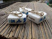 srdiečko folklór s kartičkou/modrý ornament