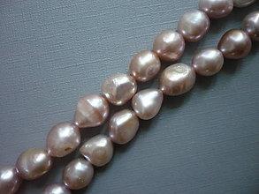 Minerály - Říční perly růžové, 12 mm, 2 ks - 9962811_