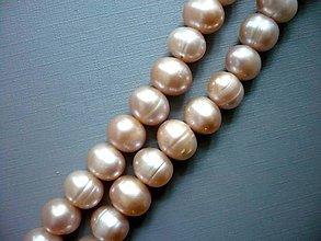 Minerály - Perly lososové - kulaté, 10 mm, 1 ks - 9962812_