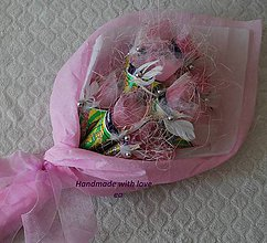 Darčeky pre svadobčanov - Kytica zo žrebov III - podlhovastá - 9960971_