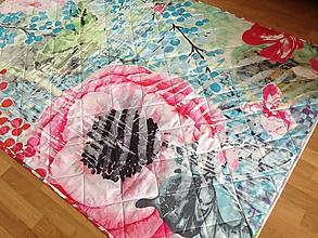Úžitkový textil - Romantická maková deka - 9960373_