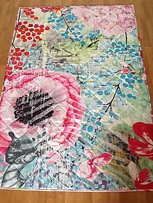 Úžitkový textil - Romantická maková deka - 9960374_