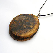 Náhrdelníky - Špaltovaný bukový kalus - 9959960_