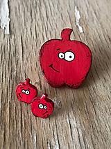 Odznaky/Brošne - jabĺčko s očkami - 9960429_