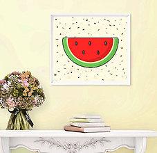 Grafika - Sladká stracciatella grafika (melón) - 9962554_