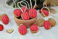 Dekorácie - Vianočné orechy červené - 9959667_