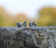 Náušnice - Náušničky ♥♥ tepané srdiečka - 9965808_