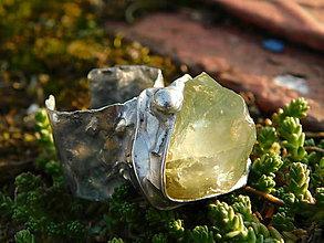 Prstene - Lampión -surový kalcit- tiffany - 9965882_