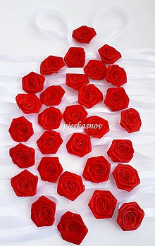 Náramky - Náramok pre družičku - červená ružička - 9963837_