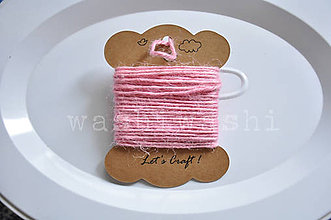 Iný materiál - jutový špagát ružový - 9966599_