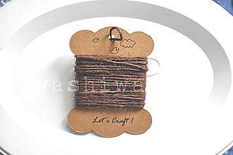 Iný materiál - špagát jutový hnedý - 9966600_