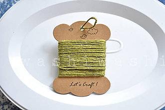 Iný materiál - jutový špagát zelený - 9966604_