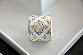 Papier - washi paska zlaty ornament - 9966670_
