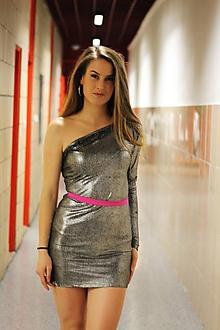 Šaty - Strieborné...... - 9963326_