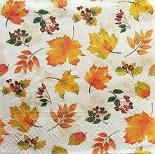 Papier - S1287 - Servítky - jeseň, listy, leaves, autumn, javor - 9963391_