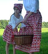 Sukne - Sukienky Červené Čičmany - 9966553_