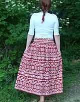 Sukne - Sukienky Červené Čičmany - 9966621_