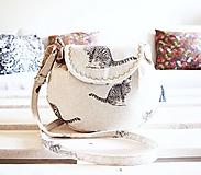 Kabelky - Malá režná kabelka - mačky - 9963892_