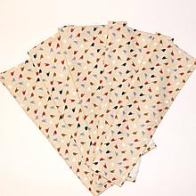 Úžitkový textil - Štóla/obrus - Vtáčik na béžovej - 9965903_