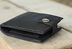 Peňaženky - Pánska čierna korková peňaženka - 9963395_