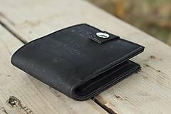 Peňaženky - Pánska čierna korková peňaženka - 9963399_