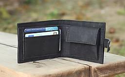 - Pánska čierna korková peňaženka - 9963408_