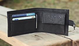 Peňaženky - Pánska čierna korková peňaženka - 9963414_