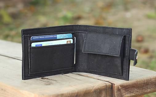 Pánska čierna korková peňaženka