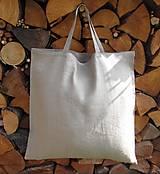 Nákupné tašky - Nákupná taška ľanová - 9964279_