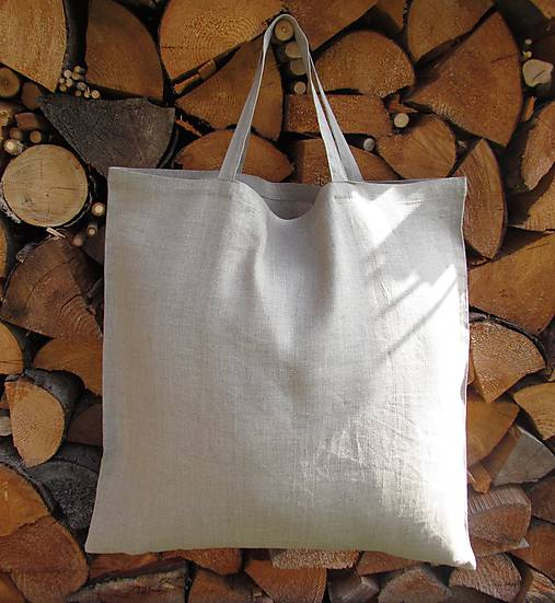 2c3a7b67550f6 Nákupná taška ľanová / allek - SAShE.sk - Handmade Nákupné tašky