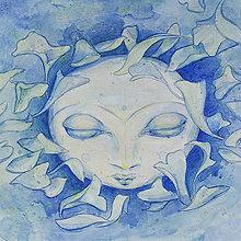 Grafika - Luna na jazere – originál - 9964155_
