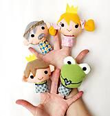 Hračky - Sada maňušiek na prst - Rozprávka Žabí princ - na objednávku - 9963039_