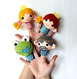 Hračky - Sada maňušiek na prst - Rozprávka Žabí princ - na objednávku - 9963040_