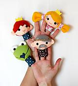 Hračky - Sada maňušiek na prst - Rozprávka Žabí princ - na objednávku - 9963041_