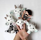 Hračky - Sada maňušiek na prst (Rozprávka o vlkovi a kozliatkach - na objednávku) - 9963151_