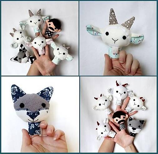 Sada maňušiek na prst (Rozprávka o vlkovi a kozliatkach - na objednávku)