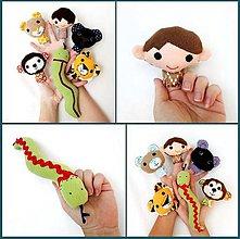 Hračky - Sada maňušiek na prst - Rozprávka Mauglí - Kniha džungle - na objednávku - 9963022_