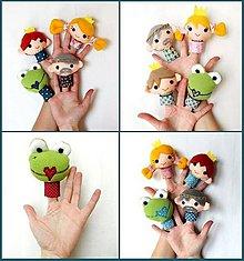 Hračky - Sada maňušiek na prst - Rozprávka Žabí princ - na objednávku - 9963035_