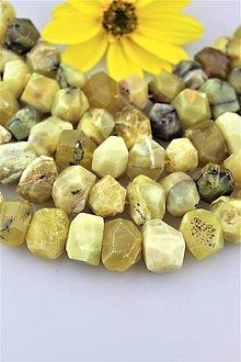 Minerály - žltý opál korálky nugety 13x20mm (cena za 10ks) - 9966730_