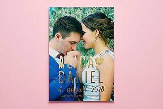 Papiernictvo - Svadobné oznámenie s fotkou - 9965381_