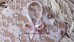 Darčeky pre svadobčanov - Stužky na fľaše / víno  - svetlá ružová - 9964243_