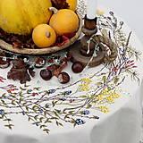 Úžitkový textil - Obrus guľatý - jesenný - 9964506_