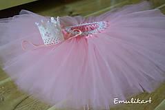 Detské oblečenie - Svetloružová baby pink tutu plus korunka - 9963376_