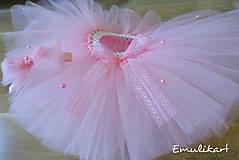 Detské oblečenie - Cukríkovo ružová tutu s čelenkou - 9963627_