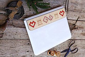 Na notebook - PUZDRO FOLK EDITION BIELE  (na MacBook Air 13 (drievko s červenou niťou)) - 9965269_
